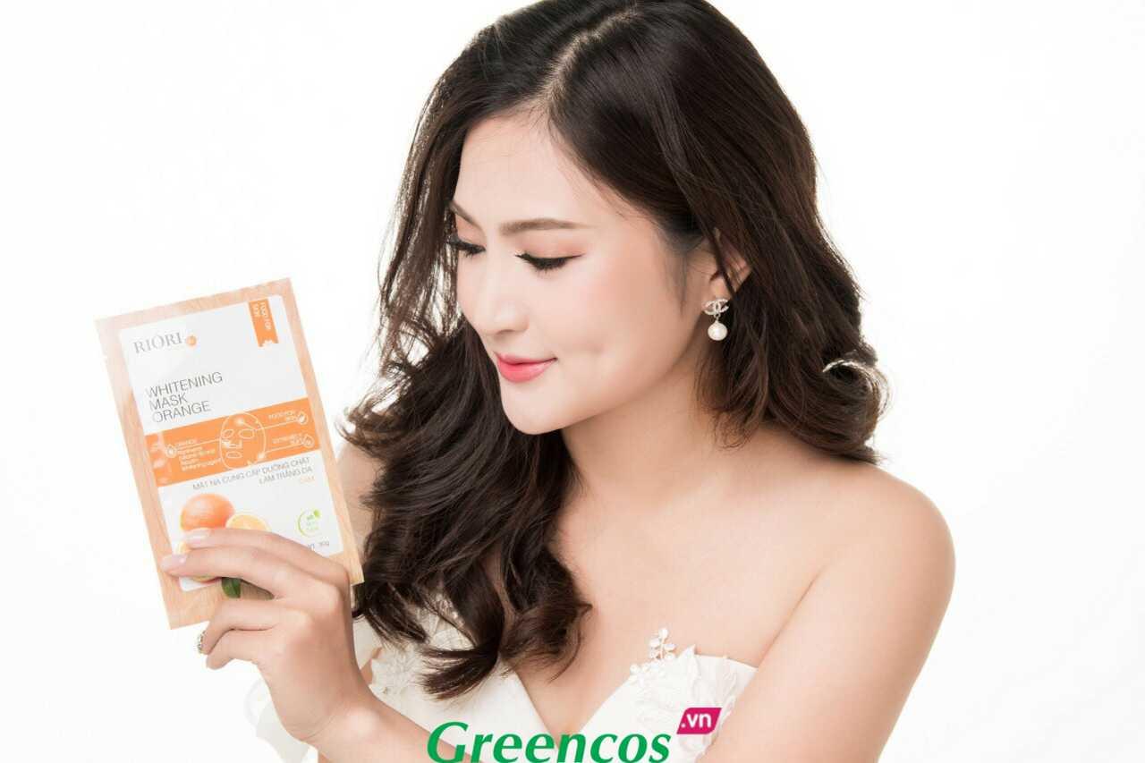 Mặt nạ dưỡng ẩm trắng da cam Riori Mask Orange làm trắng da nhiều chị em tin dùng nhất