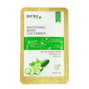 Mặt nạ dưỡng ẩm trắng da dưa leo Riori Mask Cucumber