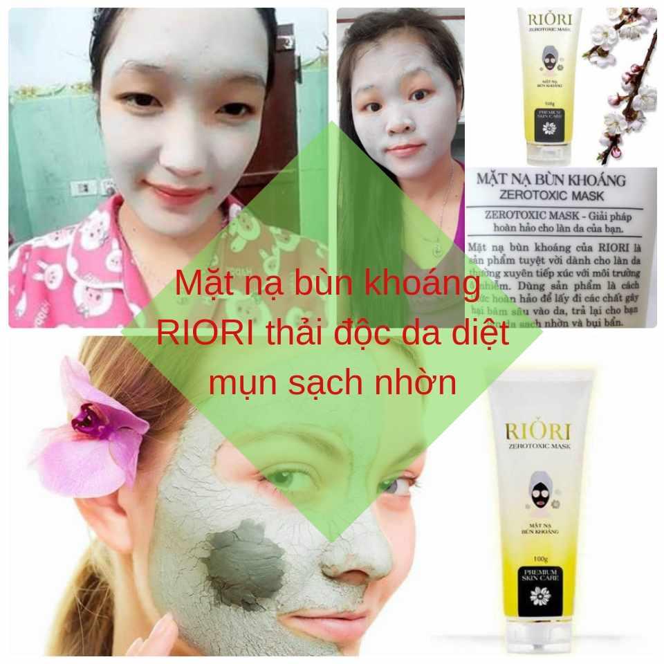 Mặt nạ thải độc bùn khoáng Zerotoxic Mask Riori thải độc da diệt mụn sạch nhờn hiệu quả nhất