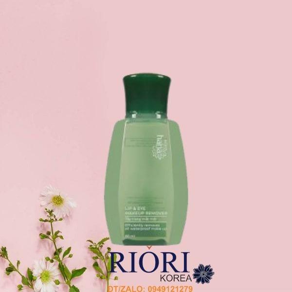 Nước tẩy tramg mắt môi Lip & Eye Remover Riori