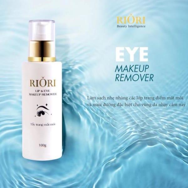 Nước tẩy trang mắt môi Riori Lip & Eye Makeup Remover