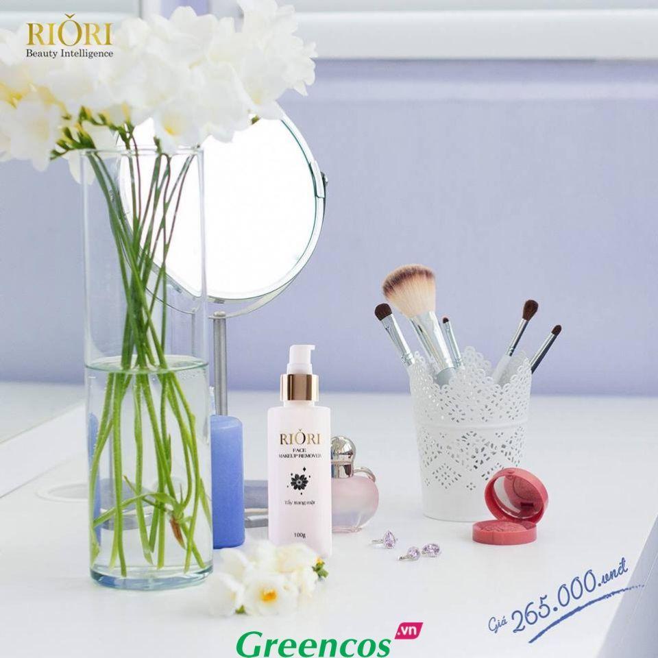 Kem tẩy trang mặt Riori Face Makup Remove làm sạch cặn trang điểm ngăn ngừa lão hóa sớm
