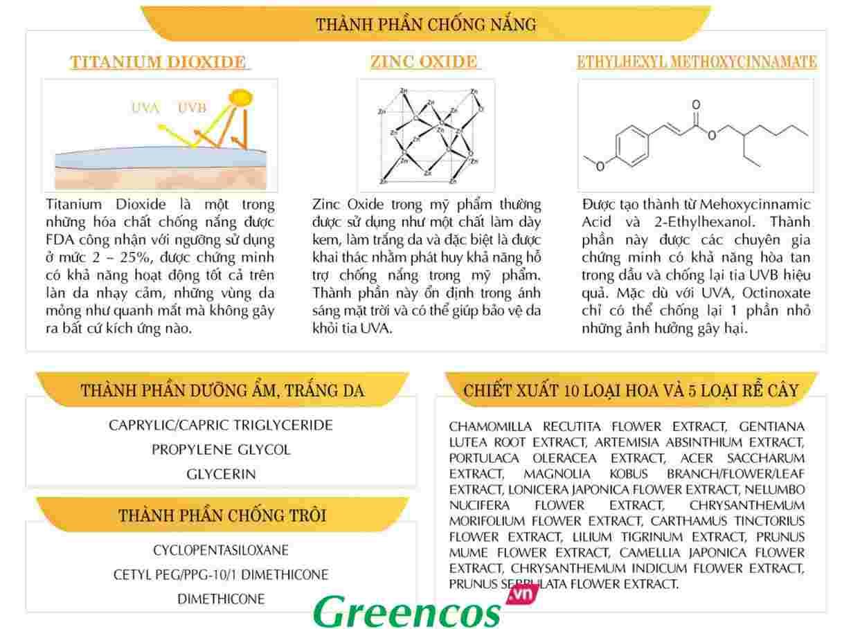 Kem chống nắng vật lý và hóa học Riori chứa thành phần chống nắng dưỡng ẩm trắng da chống trôi tốt nhất
