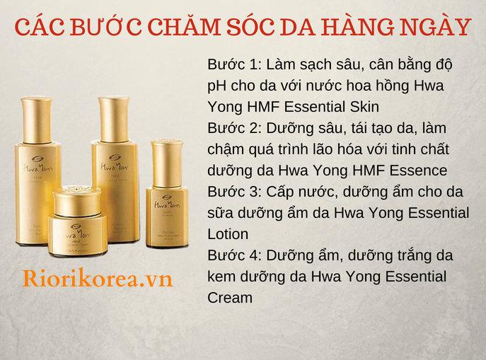 Các bước chăm sóc da hàng ngày với bộ mỹ phẩm dưỡng da Hàn Quốc Hwa Yong