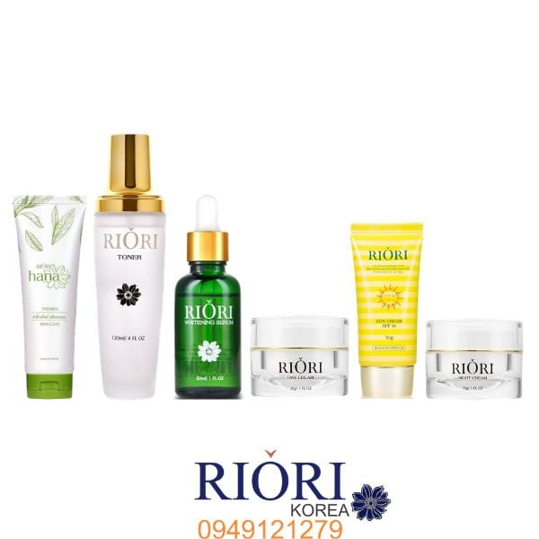 Bộ sản phẩm chăm sóc da mặt Riori