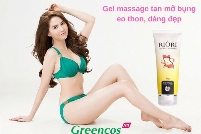 Kem tan mỡ bụng Riori - Gel massage tan mỡ bụng giảm mỡ thừa tốt nhất
