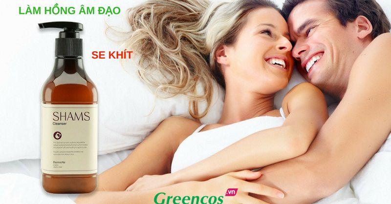 Sử dụng dung dịch vệ sinh phụ nữ SHAMS giúp se khít, làm hồng âm đạo, tăng khoái cảm & kéo dài thời gian quan hệ