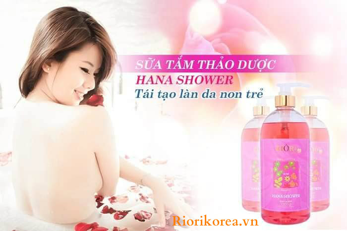 Sữa Tắm Thảo Dược Hana Shower Riori Cho Làn Da Thêm Quyến Rũ