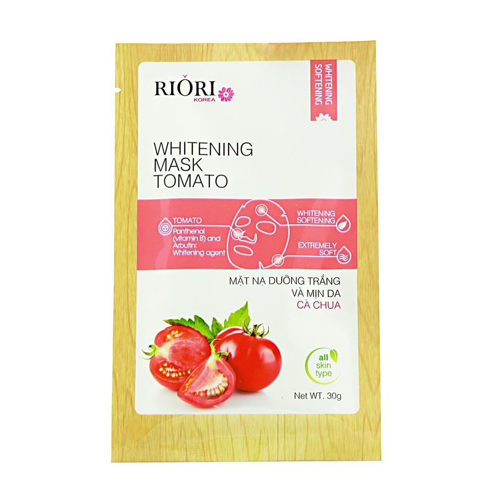 Mặt nạ dưỡng ẩm trắng da cà chua Riori Mask Tomato giúp trắng và mịn da