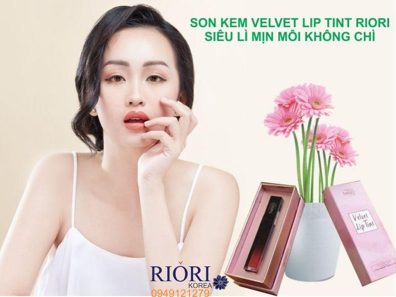 Son Kem Lì Velvet Lip Tint Riori cho đôi môi chị em luôn quyến rũ