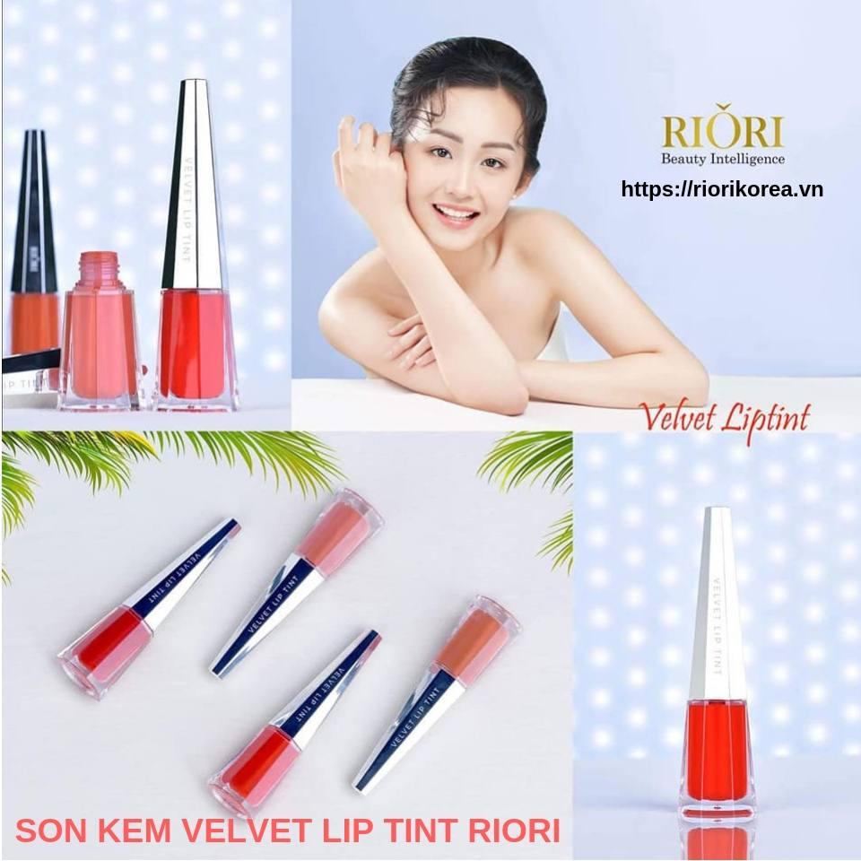 Son Kem Lì Velvet Lip Tint Riori cho lớp son mỏng nhẹ để nàng xinh lung linh